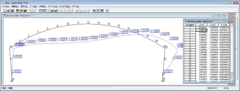 『FA1』作図機能(変位図)