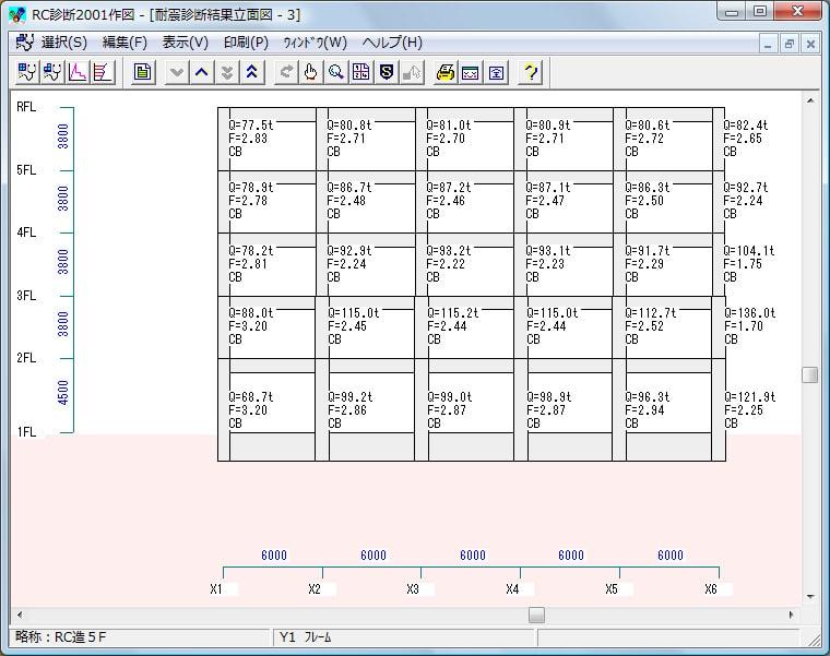 耐震診断結果-立面図