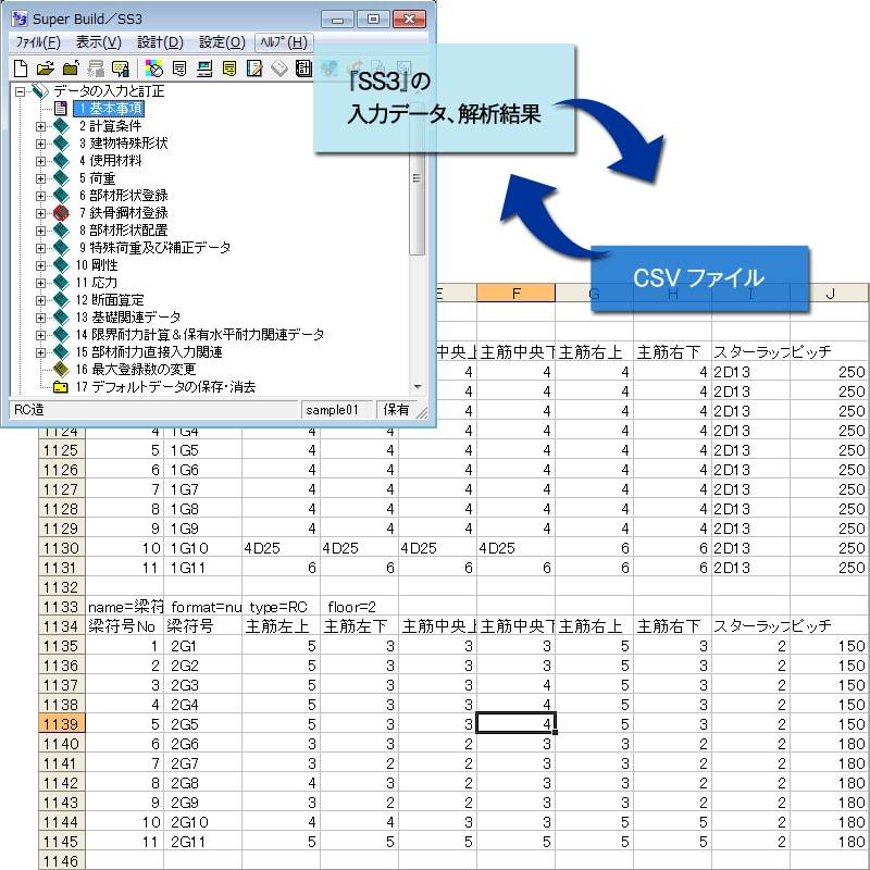『SS3』-CSVファイル入出力