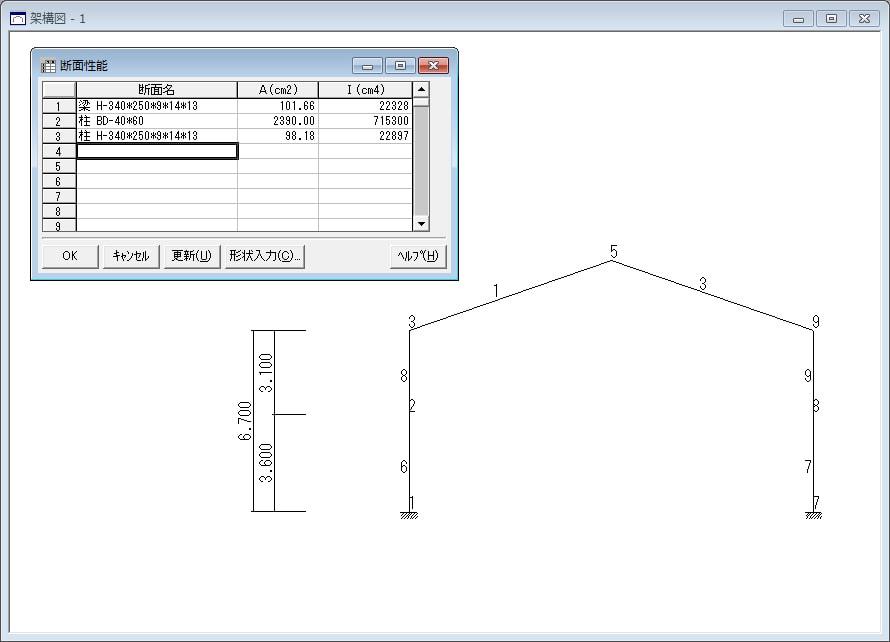 『FA1』架構図・断面性能