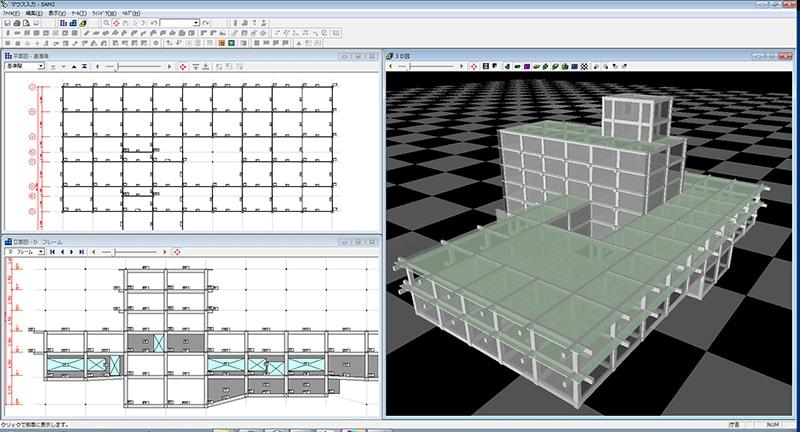 マウス入力-平面図・立面図・3D図