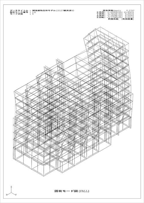 制震補強設計-立体解析