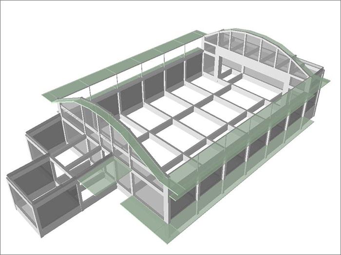木造とRC造の混構造の実例物件(RC部分のみ『SS3』を使用)