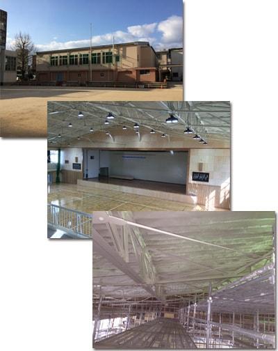 屋根ブレースと壁ブレースでの補強実績