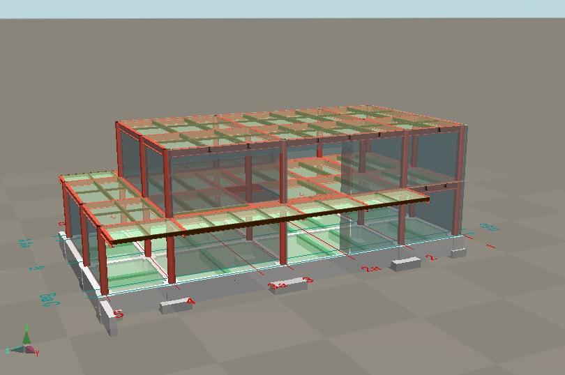 3D図で開口・小梁の確認が可能