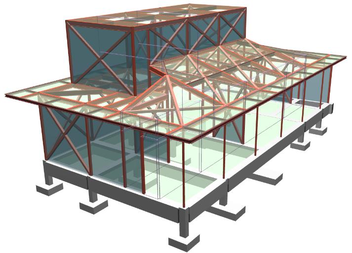 『SS7』を用いた設計実例①(S造住宅)