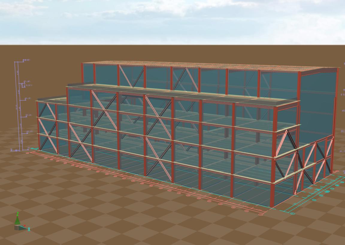 某タービン建屋(3D図)